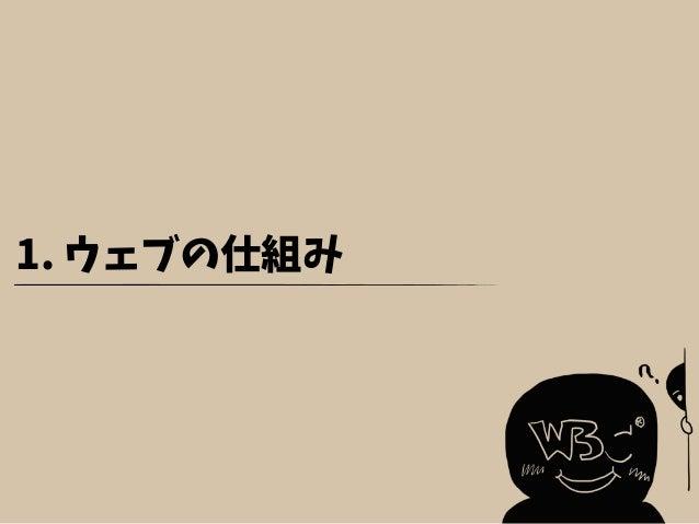 1. ウェブの仕組み