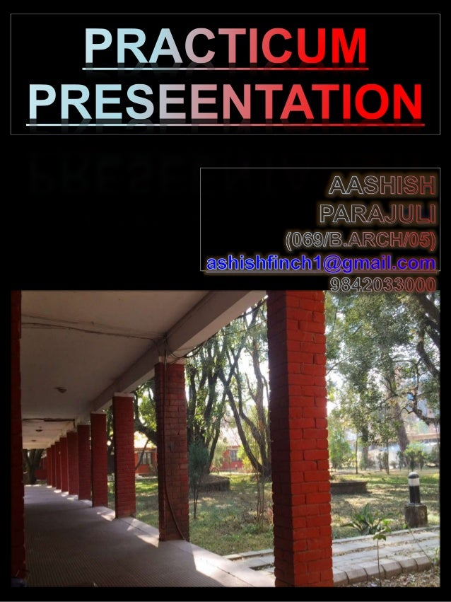 Architectural Practicum Presentation 2015/16