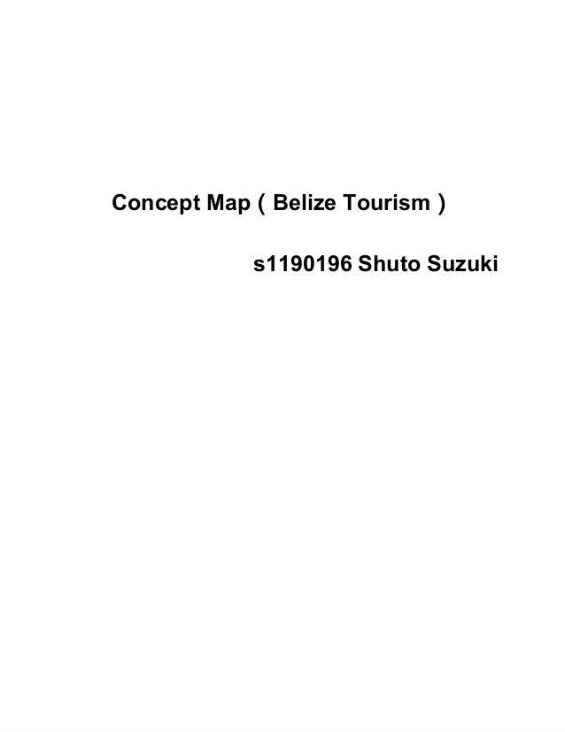 ConceptMap(BelizeTourism) s1190196ShutoSuzuki