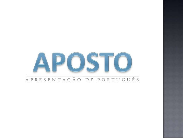 APRESENTAÇÃO DE PORTUGUÊS