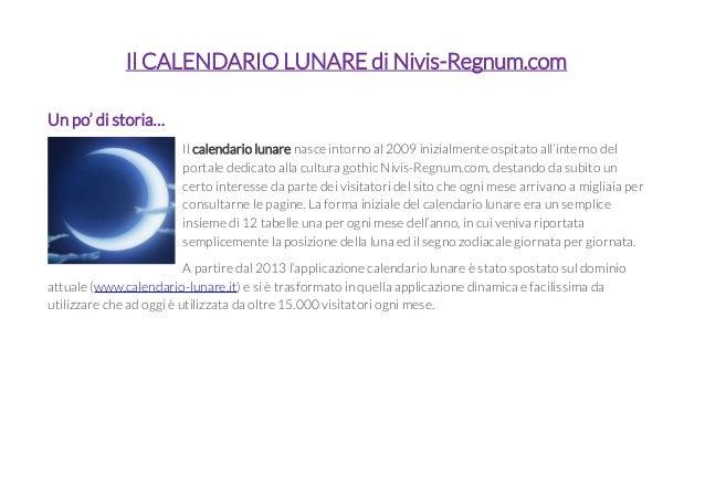 Calendario Lune.Il Calendario Lunare Di Nivis Regnum Com