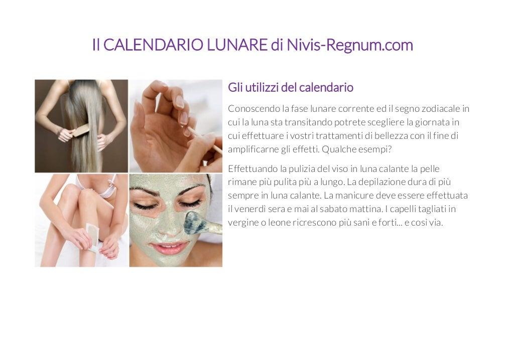 Calendario Lunare Di Bellezza.Il Calendario Lunare Di Nivis Regnum Com