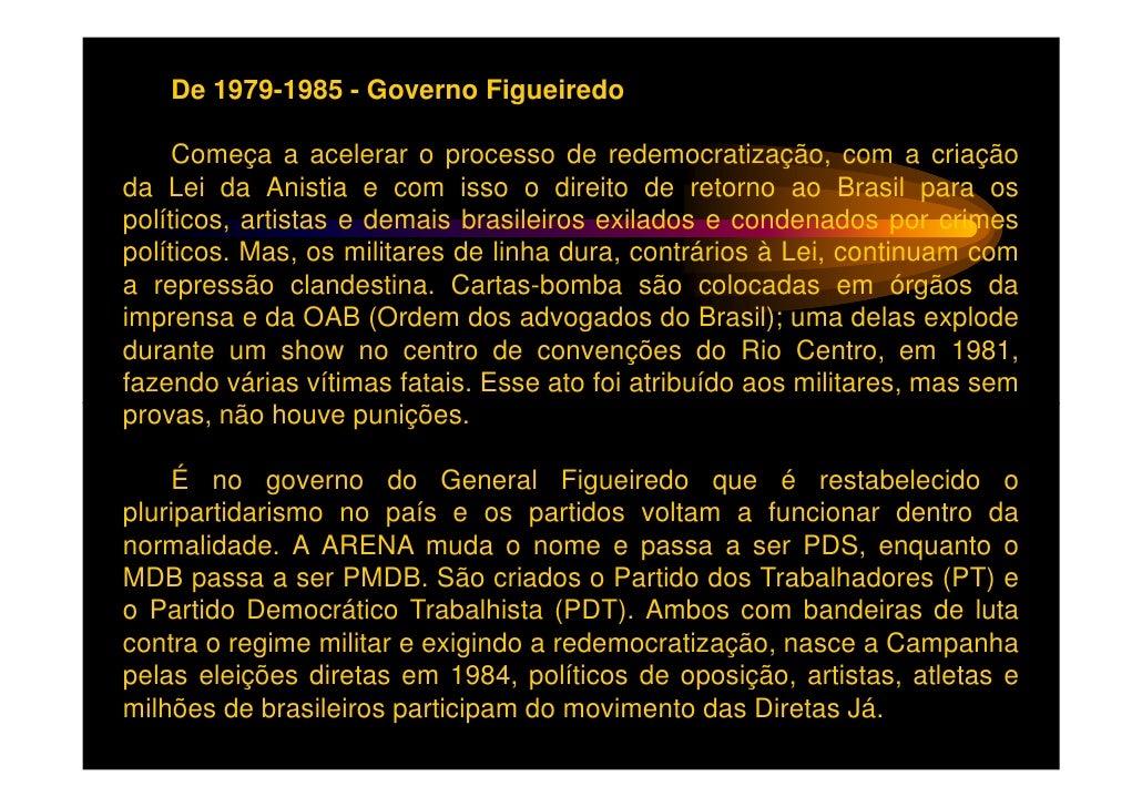 Conseguindo a aprovação, após muita luta da Emenda Dante deOliveira, que exigia eleições diretas para presidente naquele a...