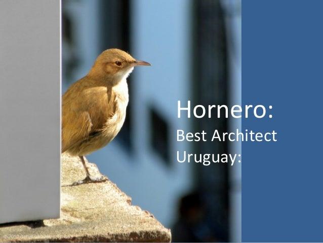 Hornero:Best ArchitectUruguay: