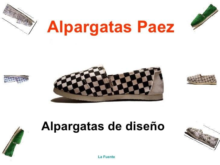 AlpargatasPaez   Alpargatas de diseño La Fuente