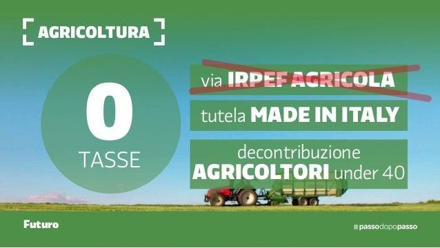 agricoltura Futuro 0tasse via irpef Agricola tutela made in italy decontribuzione agricoltori under 40