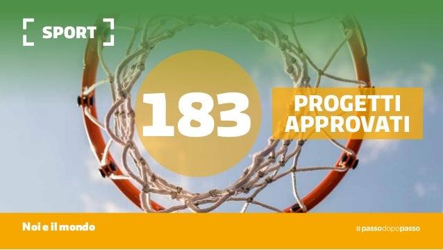 sport Noi e il mondo 183 progetti approvati