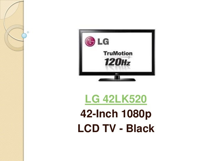 LG 42LK52042-Inch 1080pLCD TV - Black
