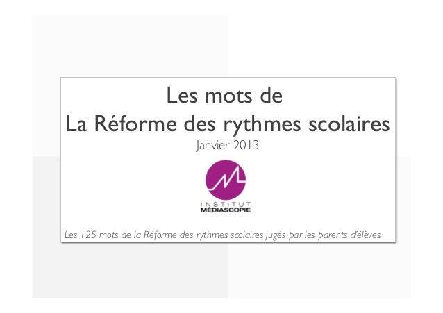va   9 8 dans l'intérêt de l'enfant   Les mots de  La Réforme des rythmes scolaires    7  Janvier 2013    6 5  ne va ...