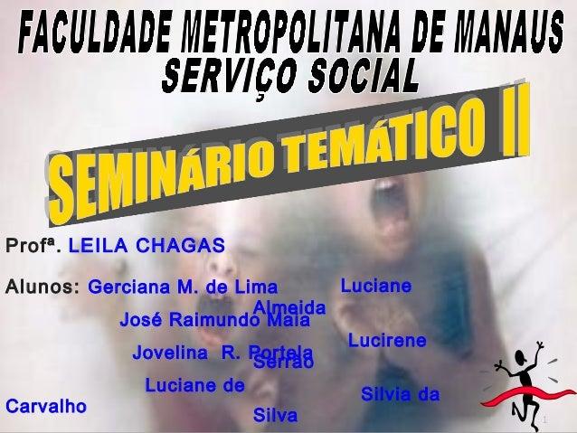 1 Profª. LEILA CHAGAS Alunos: Gerciana M. de Lima José Raimundo Maia Jovelina R. Portela Luciane de Carvalho Luciane Almei...
