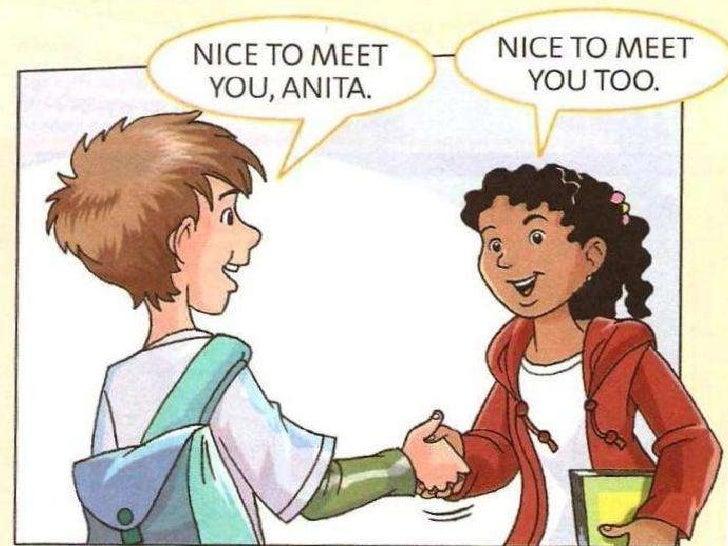 Приветствия на знакомства диалоги английском и