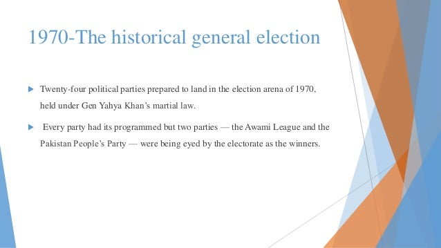 1970 elections in East & west Pakistan