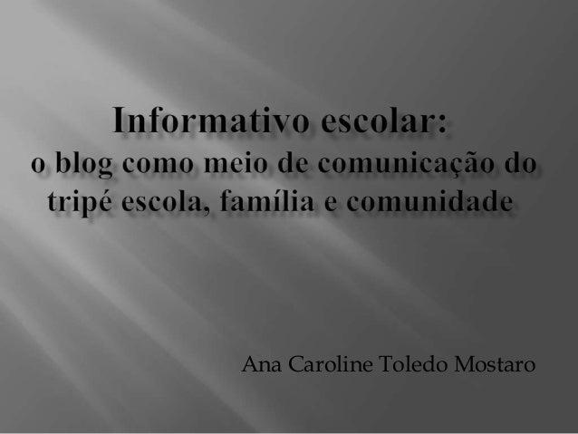 Ana Caroline Toledo Mostaro
