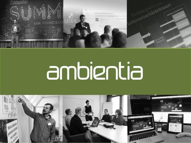Ambientia Service Design -työpaja SYTYKE