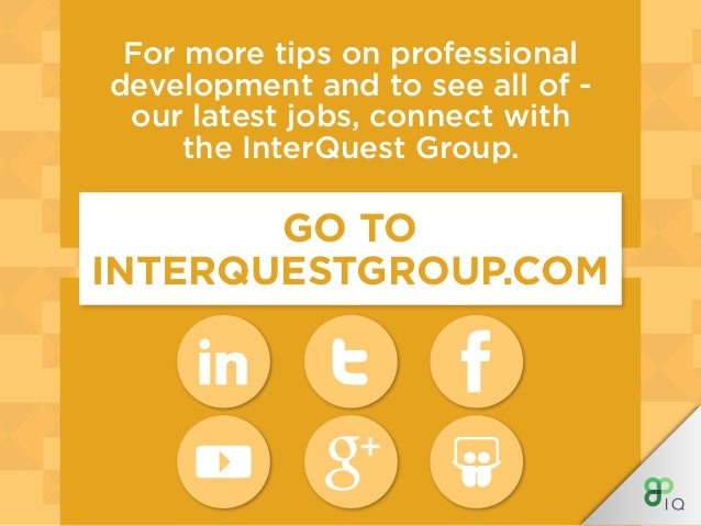 INTERQUEST GROUP WHERE OPPORTUNITY CONNECTS WITH TALENT InterQuest is a niche recruitment group divided into expert specia...