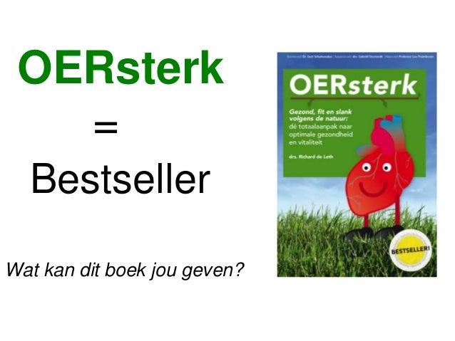 OERsterk = Bestseller Wat kan dit boek jou geven?