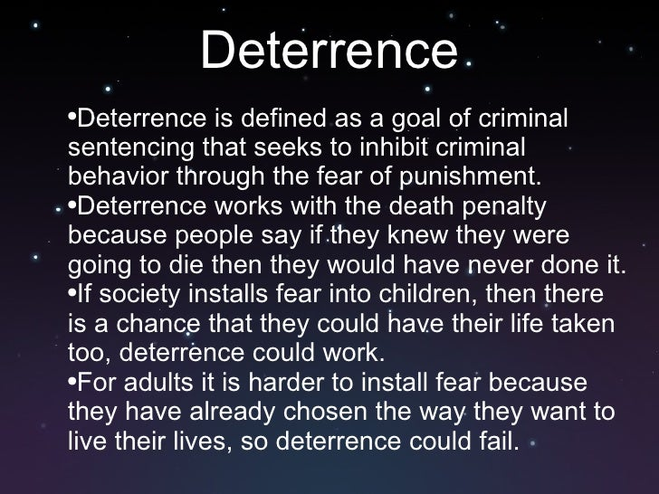 can delinquent behavior be deterred by the threat of punishment Is punishment or rehabilitation more for offender's bad behavior in society punishment can be delinquent behavior be deterred by the threat of.