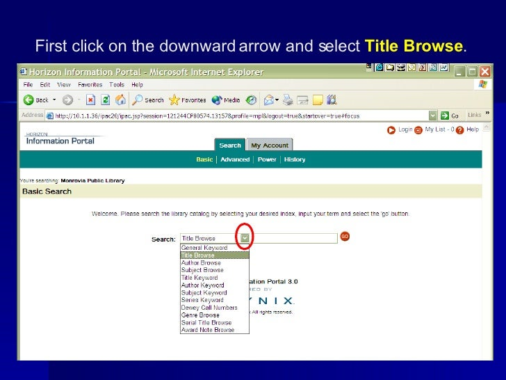 Title Search in the Catalog Slide 2