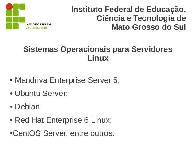 Instituto Federal de Educação,                             Ciência e Tecnologia de                                 Mato Gr...