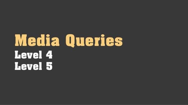 Media Queries Next Level Slide 3