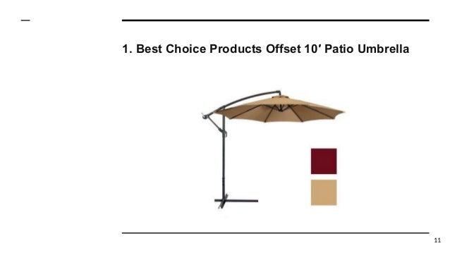 Top 10 Best Offset Patio Umbrellas in 2017 Reviews