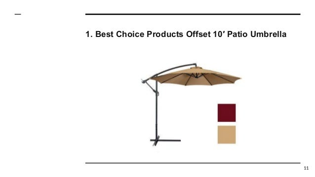 Best Choice Products Offset 10′ Patio Umbrella 11 ... - Top 10 Best Offset Patio Umbrellas In 2017 Reviews