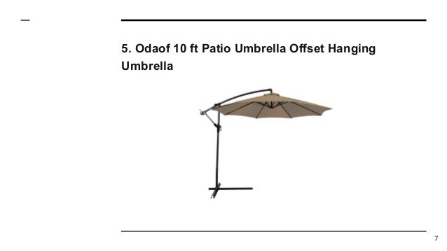 Odaof 10 ft Patio Umbrella Offset Hanging Umbrella 7 ... - Top 10 Best Offset Patio Umbrellas In 2017 Reviews