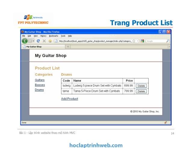 Trang Product List Bài 1 - Lập trình website theo mô hình MVC 14