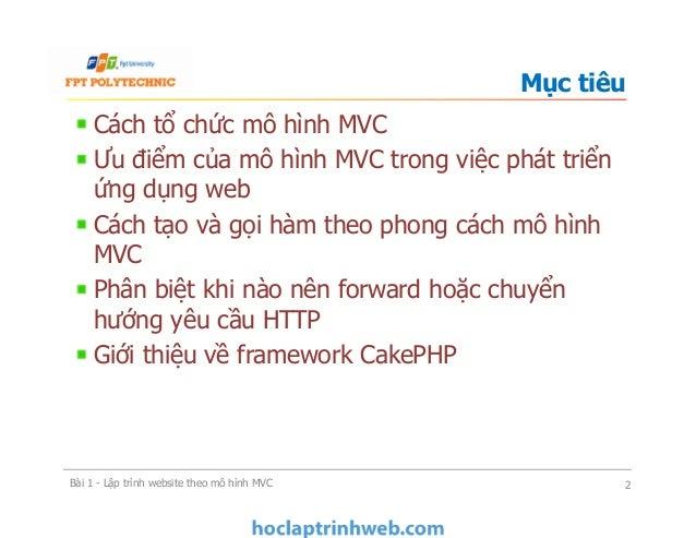 Bài 1 Lập trình website theo mô hình MVC - Xây dựng ứng dụng web Slide 2