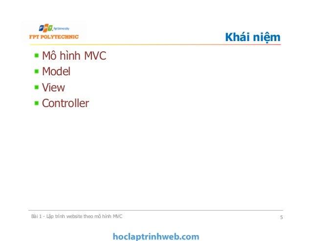 Mô hình MVC Model View Controller Khái niệm Bài 1 - Lập trình website theo mô hình MVC 5