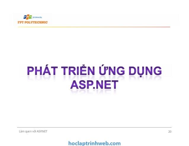 Làm quen với ASP.NET 20