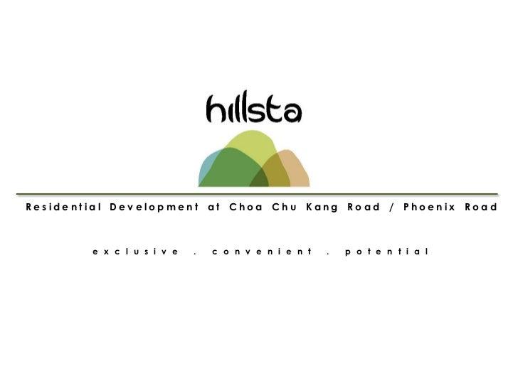 Residential Development at Choa Chu Kang Road / Phoenix Road        e x c l u s i v e   .   c o n v e n i e n t   .   p o ...
