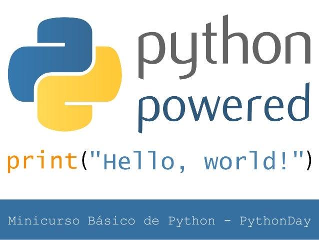 Minicurso Básico de Python - PythonDay