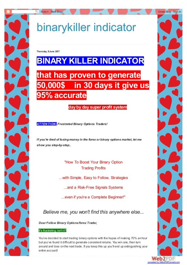 the most poweful binary killer in dicator for binay options traders