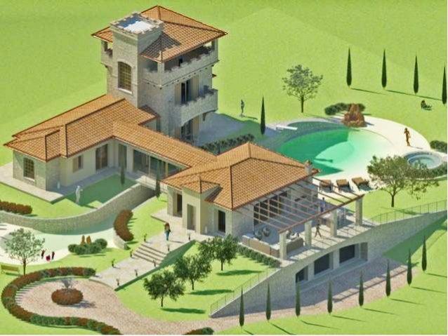Progetto di una villa di pregio con piscina bio for Bio piscina