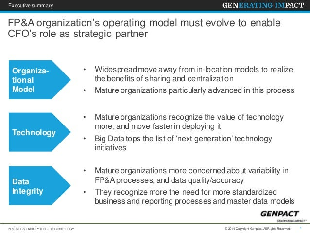 FP&A organization's operating model must evolve to enable CFO's role …