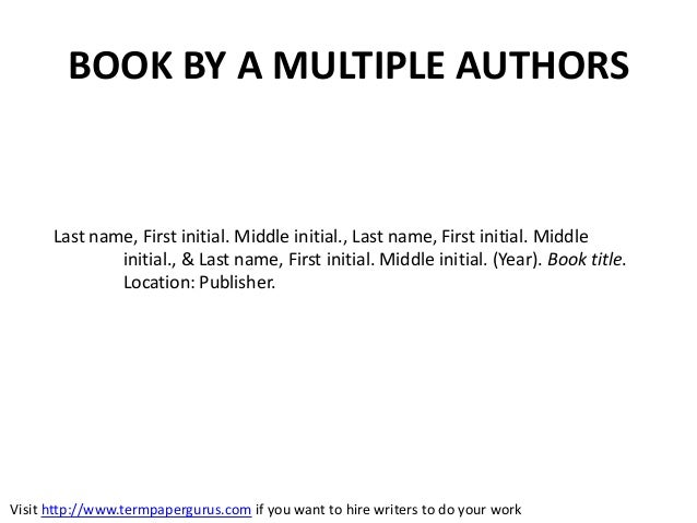 How to Display Multiple Authors in APA Format