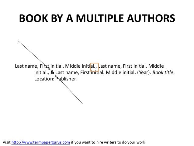 How to cite a book written by multiple authors on your termpaper book ccuart Images