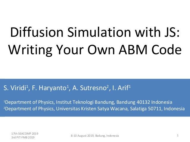Diffusion Simulation with JS: Writing Your Own ABM Code