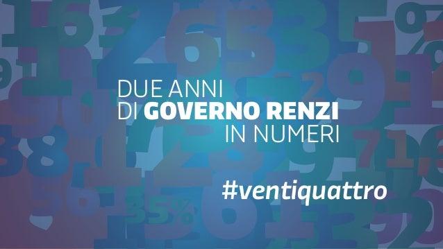 DUE ANNI DI GOVERNO RENZI IN NUMERI #ventiquattro