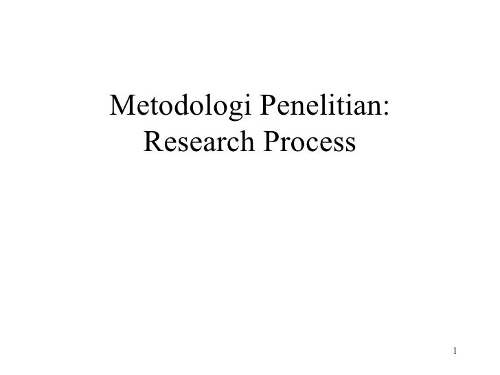 Metodologi Penelitian: Research Process