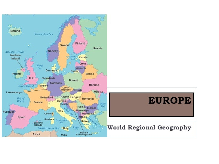 EUROPEWorld Regional Geography