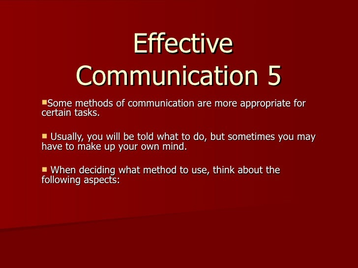effective and ineffective communication Effective communication in hospitals good medical care depends upon effective communication between you and your provider(s) ineffective communication can lead to improper diagnosis and delayed or improper medical treatment.