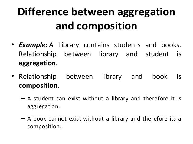 Slide 5 class diagram 30 difference between aggregation and composition ccuart Gallery