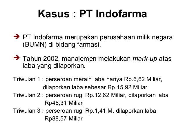 manajemen laba pt indofarma Manajemen laba merupakan suatu proses dalam mengambil langkah yang disengaja dalam batas prinsip  ketua komite audit dan komisaris independen pt indofarma.