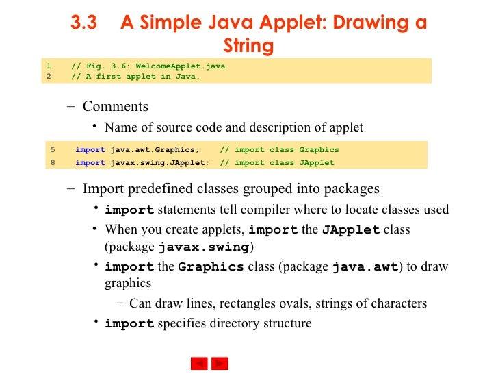 Drawing Lines In Java Swing : Java applets