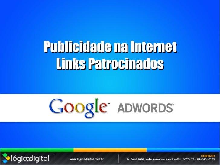 Publicidade na Internet  Links Patrocinados