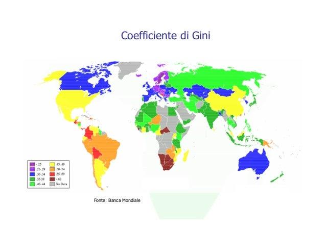 Coefficiente di GiniFonte: Banca Mondiale