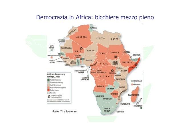 Democrazia in Africa: bicchiere mezzo pieno     Fonte: The Economist