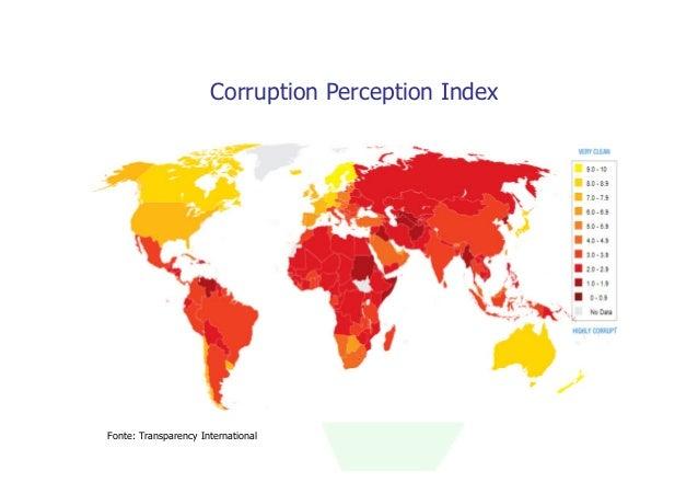 Corruption Perception IndexFonte: Transparency International